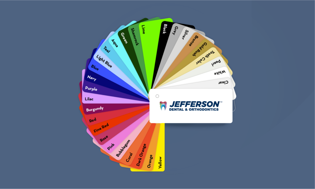 Jefferson Dental & Orthodontics Braces Color wheel