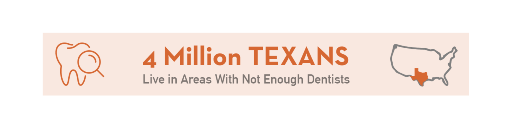 Texans in areas with enough dentists Statistics